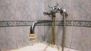 Ремонт кран-буксы у смесителя в ванной. Пробую советы с ютуба.