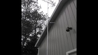 HD Stacker TV Antenna VHF/ UHF/ FM/ HDTV Install By KVUSMC