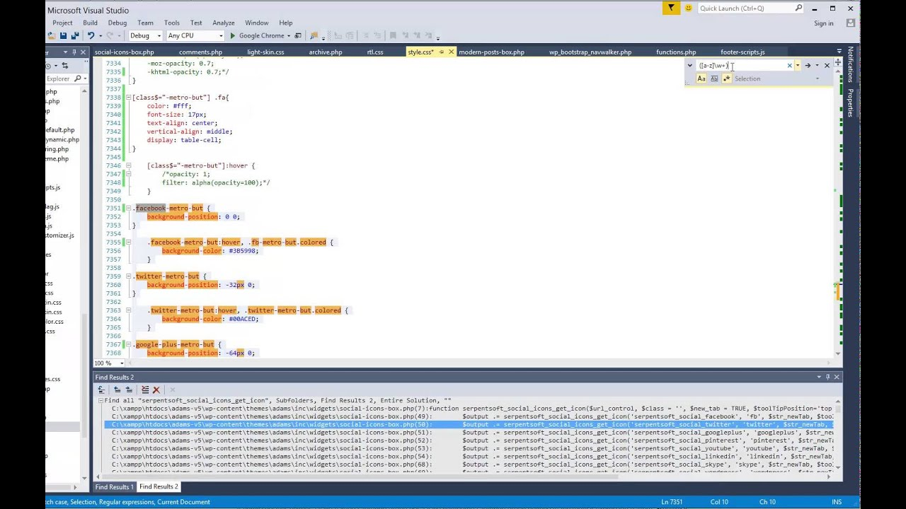 Find And Replace Using Regular Expression In Visual Studio