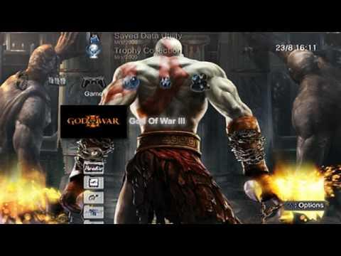 Xmb Ps3 Firmware 30 God Of War Iii Animated Wallpaper