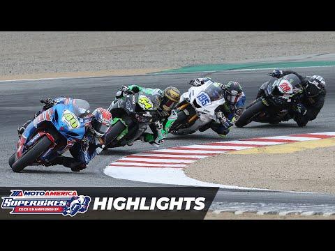 MotoAmerica Supersport Race 2 Highlights at Laguna Seca 2020