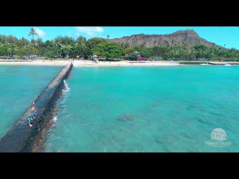 Waikiki Beach 4K Drone Footage [Hawaii Drone Imaging]