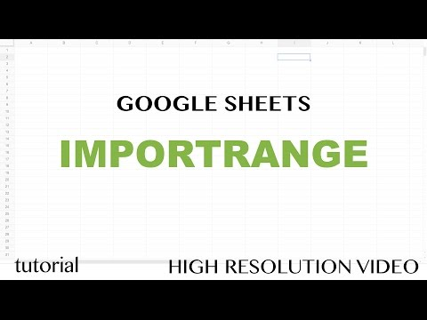 Google Sheets IMPORTRANGE Function Tutorial - Learn How to