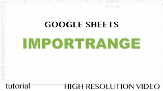 Using Importrange Formula To Collect Data From Multiple Google
