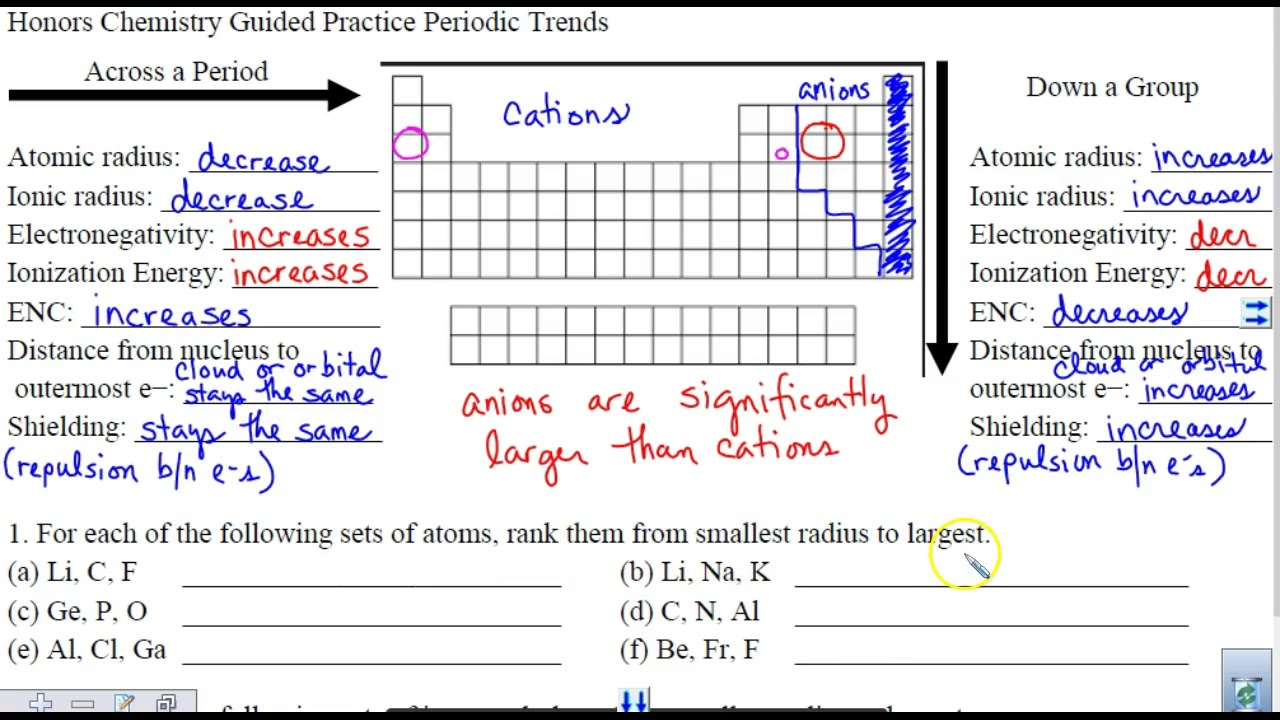 Periodic trends comparison practice youtube periodic trends comparison practice urtaz Images