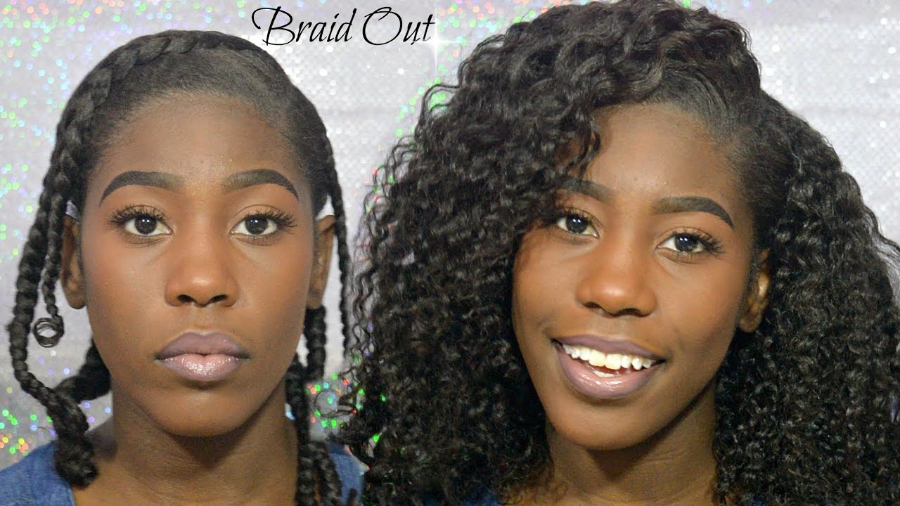braid out styles relaxed hair best defined braid out relaxed hair hair diary 5692