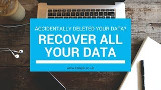 How to get your lost data/files back from your USB or Hard Drive (Recovery)