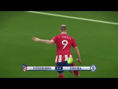 PES 2018 - Atletico Madrid vs Chelsea - Champion League 27/9/2017