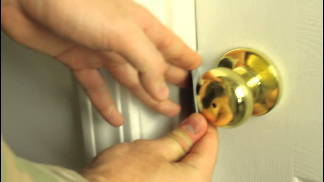how to pick a bedroom door lock with credit card - bedroom style ideas