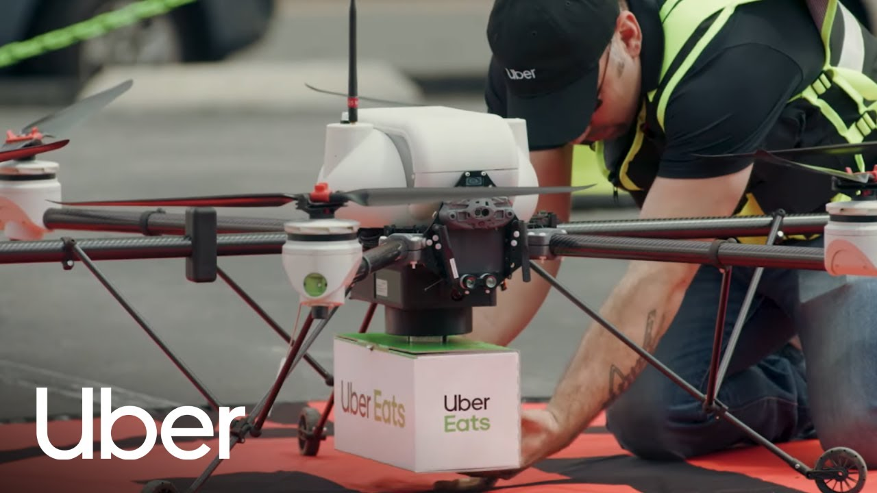 Image result for uber eats drone delivery