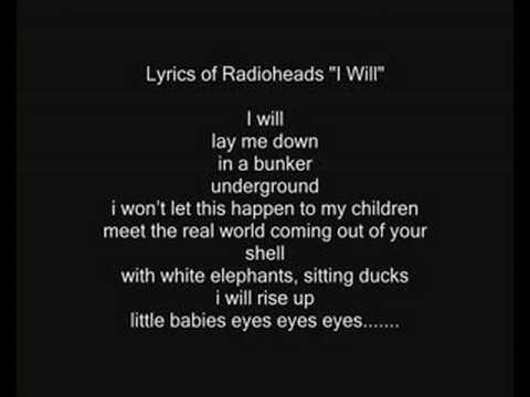 "Radiohead i Will Cover ""Karaoke like Version"""