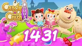 Candy Crush Soda Saga level 1431 - 1 Booster Used