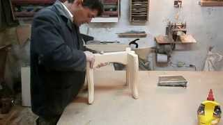 """Скамейка на """"ласточкиных хвостах"""". Chair. Homemade Stool Wooden."""