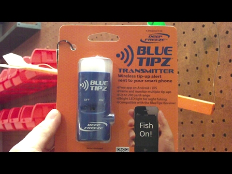 Bluetipz Transmitter On A Windlass Tip Up Youtube