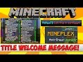 Minecraft Plugin Tutorial - Title Welcome Message