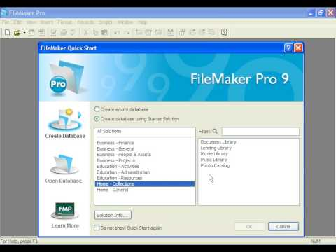 Learn FileMaker Pro Opening And Saving Templates By DVD - Filemaker pro templates
