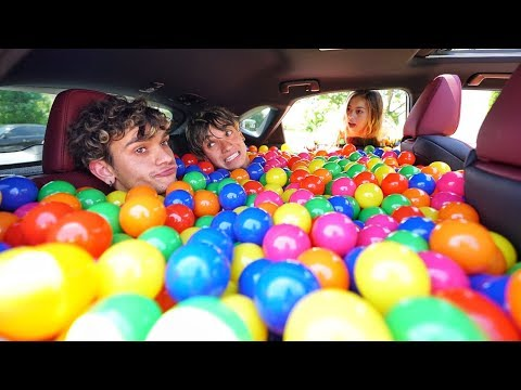 BALL PIT PRANK IN MY GIRLFRIEND'S CAR!