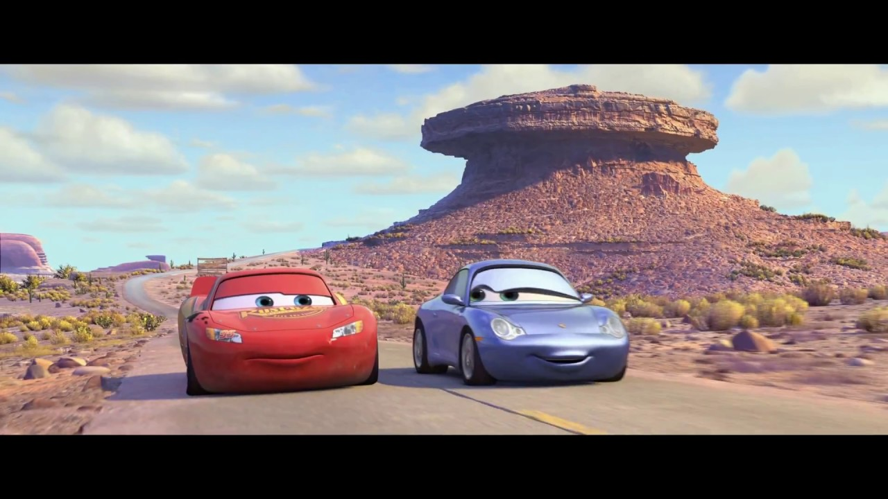 Cars Mcqueen And Sally Take A Drive Hd Youtube