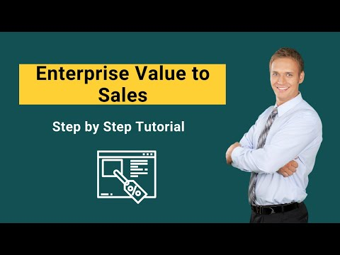 Enterprise Value To Sales Formula Examples Valuation YouTube