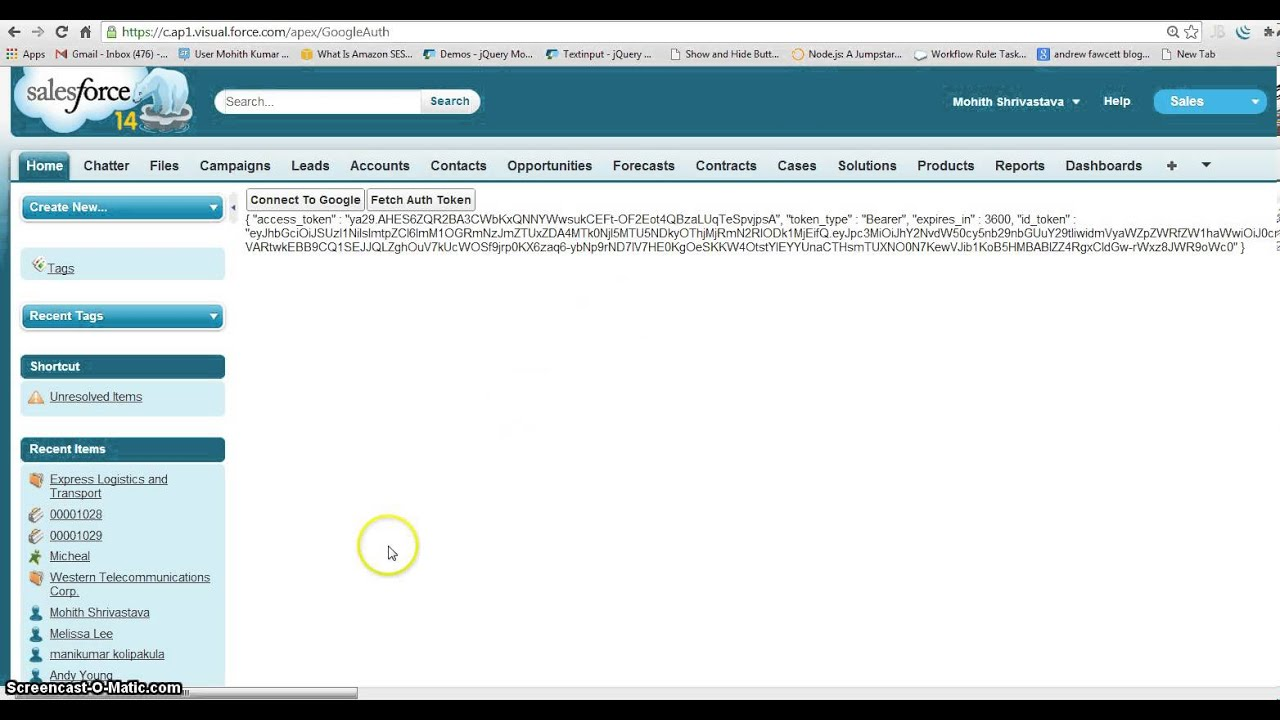 cloudy: Oauth Google With Salesforce com using apex
