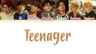 GOT7 Teenager LYRICS COLOR CODED HAN ROM ENG