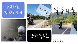 스쿠터 여행/ 서울에서 강원도까지/살둔마을/태기산/짜장…