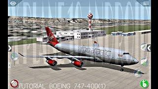 Літак Ікс 10 Андроїд HD/підручник Боїнг 747-400 (приклад парті)