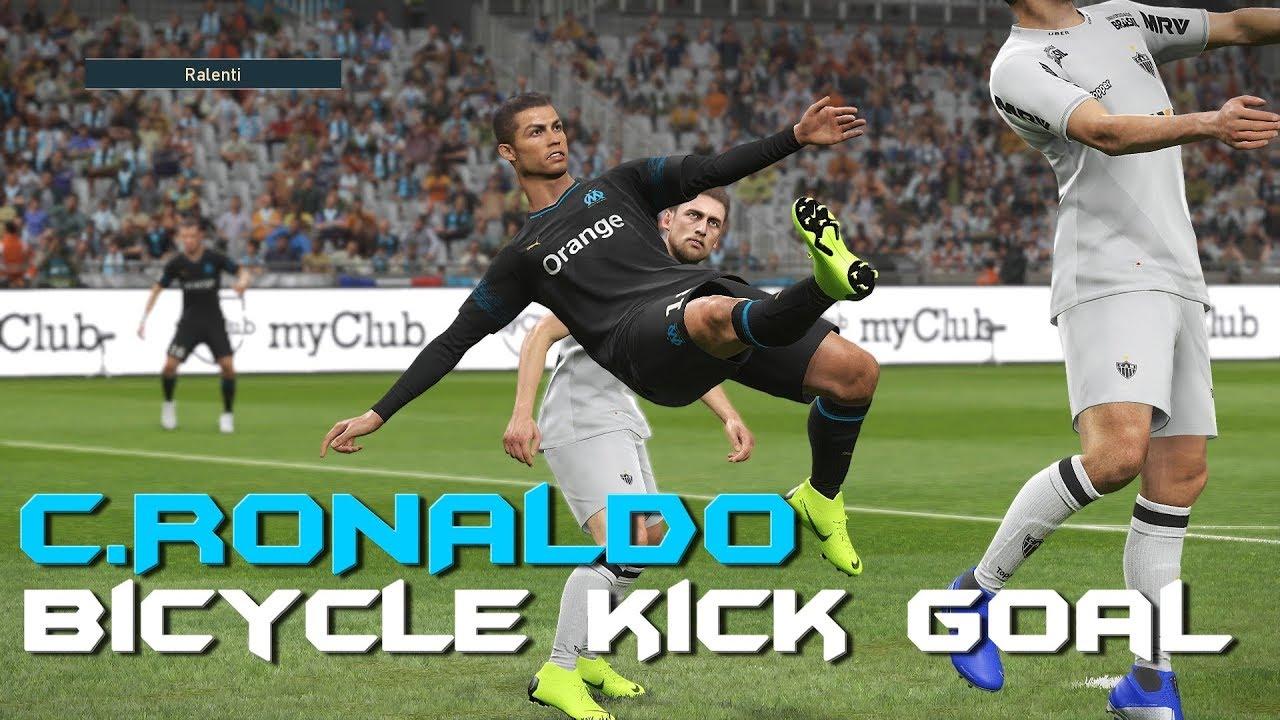 C Ronaldo Bicycle Kick Goal Pes 2019 Youtube