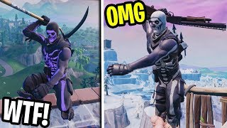 PURPLE Skull Trooper CHALLENGED by FAKE Skull Trooper... and then this happened!