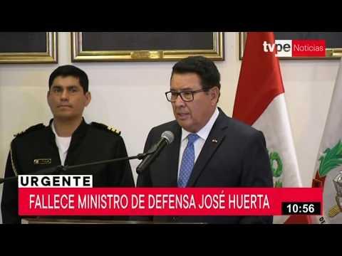 Ministro de Defensa, José Huerta, falleció tras sufrir un infarto