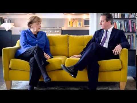 BBC News-David Cameron and Angela Merkel set for UK talks