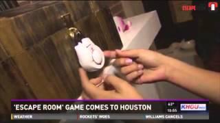 Houston Escape Room On Khou 11 News - 02.08.15