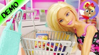 Barbie idzie na zakupy do supermarketu | Barbie supermarket unboxing
