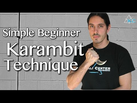 KARAMBIT Beginner Technique - How to Use the Karambit Instantly!