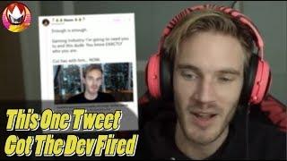 PewDiePie Threatened by Developer on Twitter?