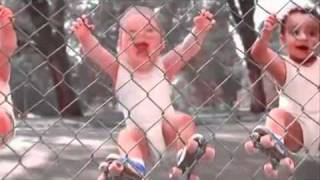 DRUNK BABIES BREAK DANCING  ROLLER SKATING TO I JUST LIKE TO PARTY BY POTENCY