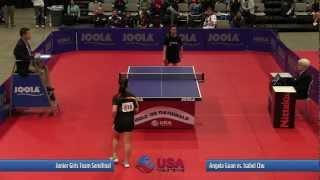 Junior Girls Team SF - Match 5: Angela Guan vs. Isabel Chu - 2012 US National Championships