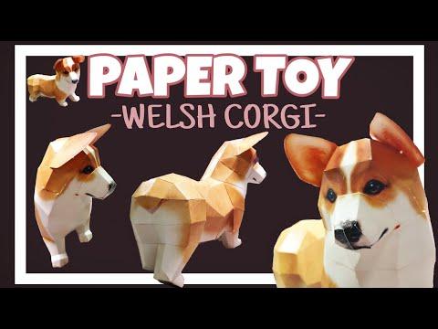 [DIY] 20181010 수(Wed) 식빵이를 직접 만들어봅시다. 페이퍼토이 '웰시 코기(댕댕이)' 조립하기/DIY Paper Toy 'Welsh Corgi(Dog)'