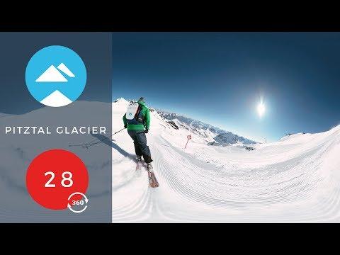 Red 28 - 360 VR | Pitztal Glacier, Austria | Piste View