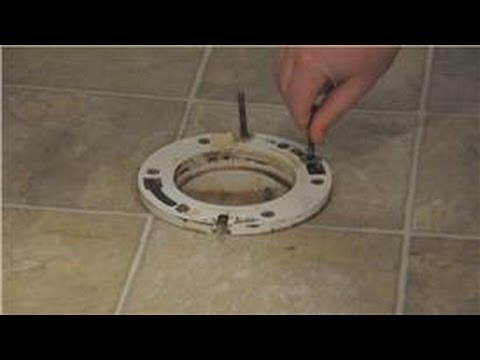 Kitchen  Bathroom Repairs  How to Install HoldDown Bolts on a Toilet  YouTube