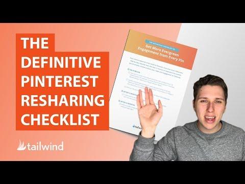 The Definitive Pinterest Resharing Checklist