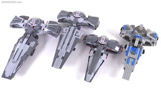LEGO Star Wars Sith Infiltrators compared! 1999 - 2007 - 2011 - 2015