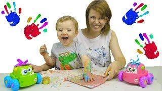 Учим цвета (LEARN COLORS) - Пальчиковые краски SES - Весёлое видео для Детей. Learn Colors