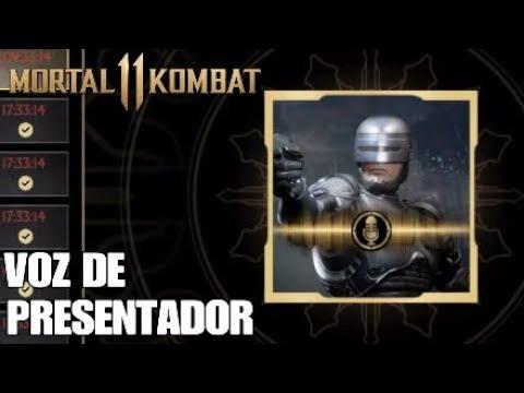 MORTAL KOMBAT 11 VOZ DE PRESENTADOR DE ROBOCOP