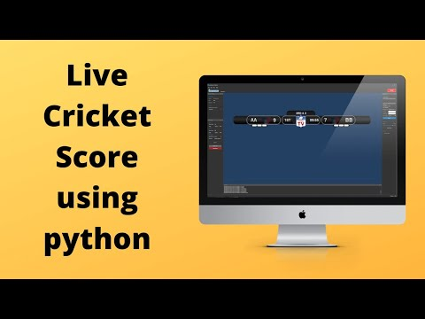 Display Live Cricket Score Using Python