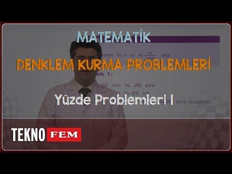 YGS-LYS MATEMATİK - Yüzde Problemleri 1