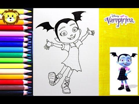 Como Dibujar Vampirina Disney Junior Dibujos Para Ninos