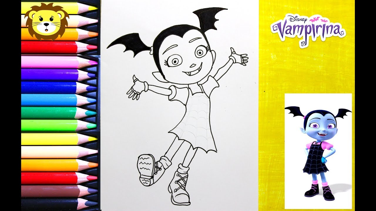 Como Dibujar Vampirina Disney Junior Dibujos Para Niños Draw And Coloring Book For Kids