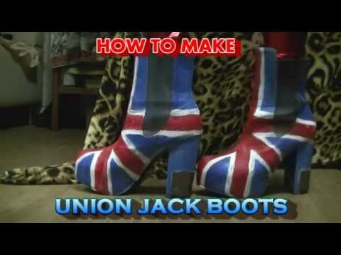 DIY: How to make Union Jack platform boots!