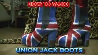 Diy: How To Make Union Jack Platform Boots!